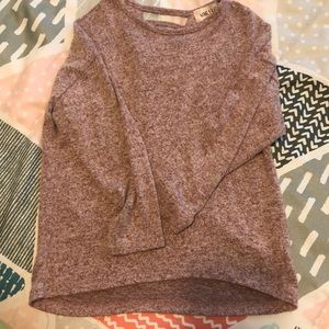 Long sleeve maroon sweater with back detail